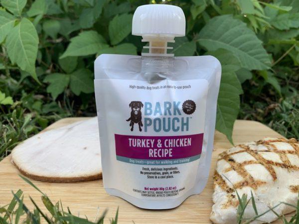 80-gram Turkey & Chicken Bark Pouch dog treats